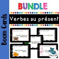 Bundle ensemble Verbes au présent Boom cards