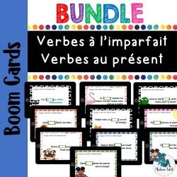 Bundle  Verbes au présent et imparfait  Boom cards