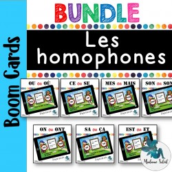 Bundle Ensemble : Les homophones Boom cards