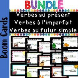 Bundle verbes présent, imparfait, futur Boom cards