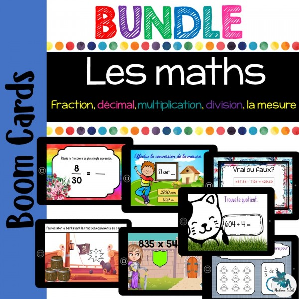 Bundle Ensemble math 4-5-6 Boom cards