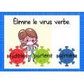 Élimine le virus verbe     Boom card