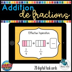Additions de fractions     Boom cards