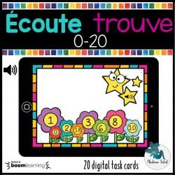 Les nombres de 0-20 : ÉCOUTE et appuie BOOM CARDS