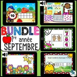 Bundle 1re année septembre mathématique BOOM CARDS