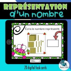 Représentation d'un nombre naturel BOOM CARDS