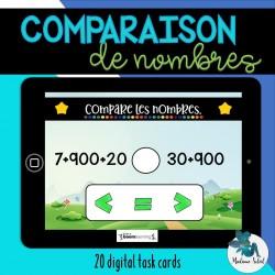 Compare les nombres BOOM CARDS