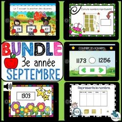 Bundle 3e année septembre mathématique BOOM CARDS
