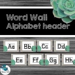 Mur de mots Alphabet : cactus,succulent