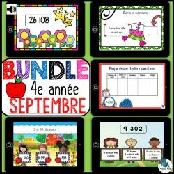 Bundle 4e année septembre mathématique BOOM CARDS