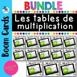 Bundle des tables de multiplication Boom cards