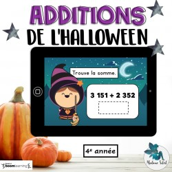 Addition de l'Halloween 4e année BOOM CARDS