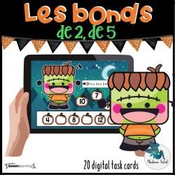 Les bonds de 2 et de 5 l'Halloween 0-20 Boom Cards
