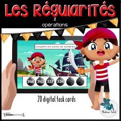 Les régularités numériques Boom cards