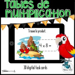 Tables de multiplication 0-10 Boom cards