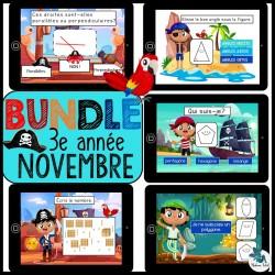 Bundle 3e année novembre mathématique BOOM CARDS