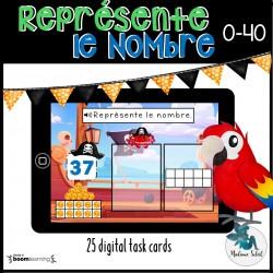Représente le nombre 0-40 Les pirates Boom Cards