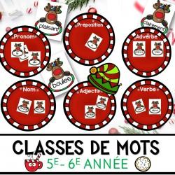 Classes de mots de Noël 5e-6e année