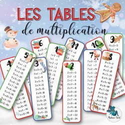 Tables de multiplication de Noël