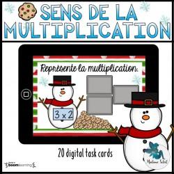 Sens de la multiplication 3e année de Noël