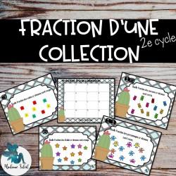 Fraction d'une collection  -  Cartes à tâches