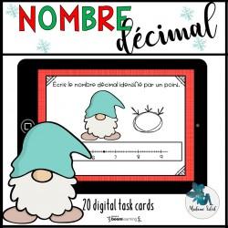 Nombre décimal sur une droite numérique Boom cards