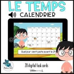 Repérage sur un calendrier avec son Boom Cards