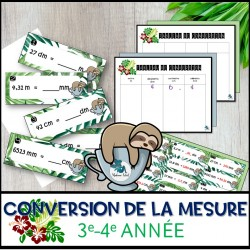 La conversion des unités de mesure