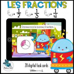 Les fractions en 1re année Boom Cards