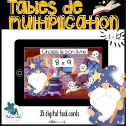 Tables de multiplication 0-12 Boom cards
