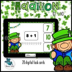 Addition 0-10 St-Patrick Boom cards