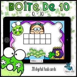 Représente le nombre de St-Patrick 0-10 BOOM CARDS
