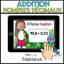 Addition des nombres décimaux BOOM CARDS