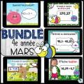 Bundle 4e année mars mathématique BOOM CARDS