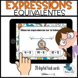 Expressions équivalentes 0-20 Boom Cards
