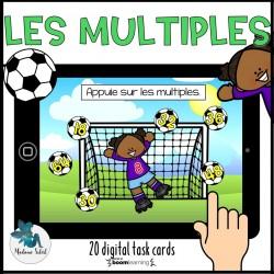 Les multiples du nombre au soccer Boom Cards