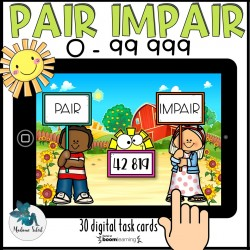 Nombre pair et impair 0-99 999 Boom Cards