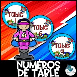 Numéros de table du Super-héro