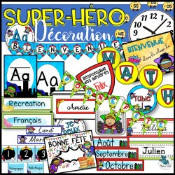 Bundle décor de classe Super-héro