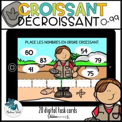Ordre croissant décroissant 0-99 BOOMS CARDS