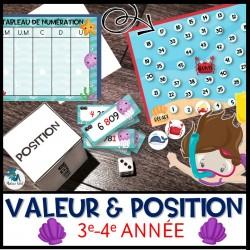 Valeur et position au 2e cycle 0 - 9 999