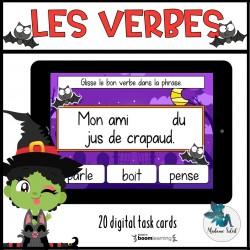 Les verbes de l'Halloween Boom Cards