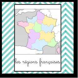 les 13 régions françaises - Cartes de nomenclature