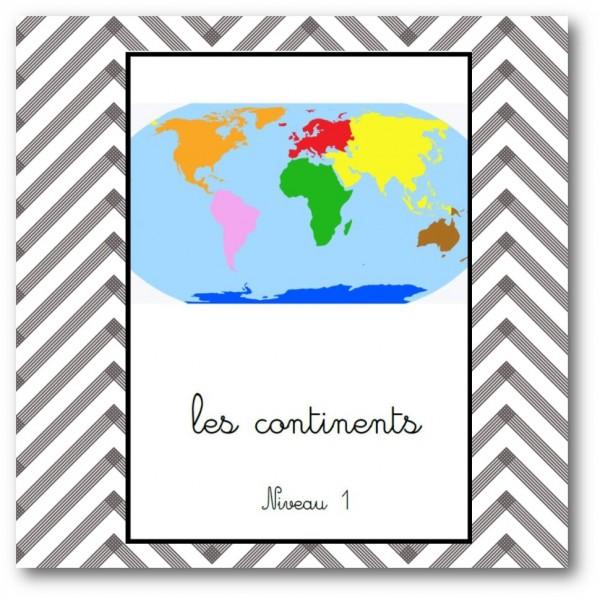 les continents niv1 - nomenclature Montessori