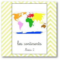 les continents niv2 - nomenclature Montessori