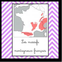 Les massifs montagneux français - Nomenclature