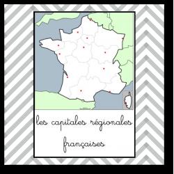 les 13 capitales régionales France - nomenclature