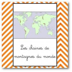 les chaines de montagne du monde - nomenclature