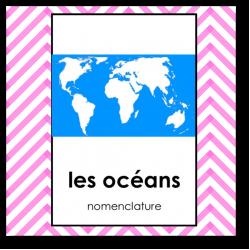 les océans - nomenclature SCRIPT