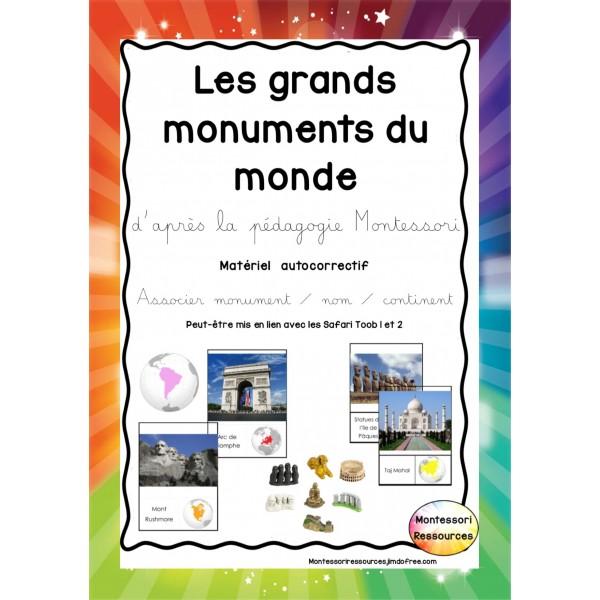 Les grands monuments du monde - Montessori